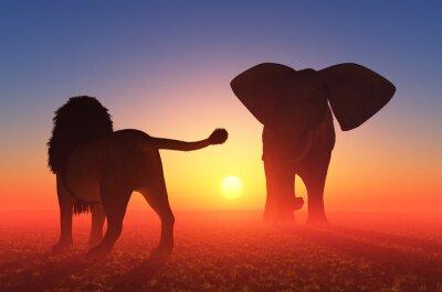 El León y el Elefante