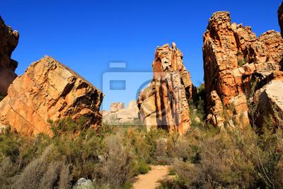 El paisaje Cuevas Stadsaal en el Cederberg, Sudáfrica