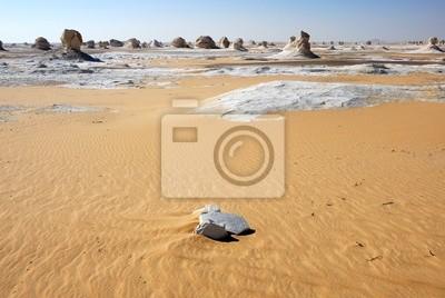 El paisaje del desierto Blanco