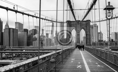 Póster El puente de Brooklyn en la ciudad de Nueva York, EE.UU.