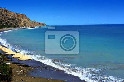 El rock y la playa de Afrodita en Chipre