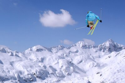 Póster El salto del esquiador