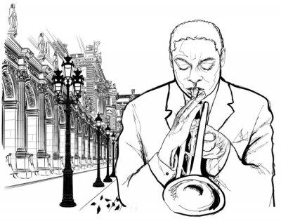 Póster El trompetista en París