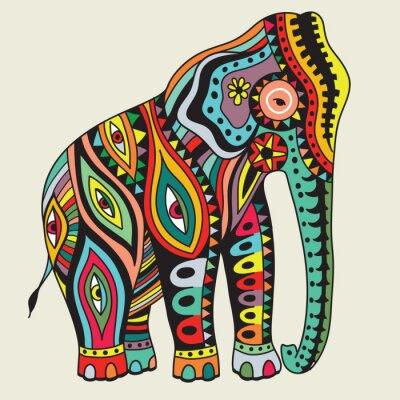 Póster Elefant. Ilustración del vector