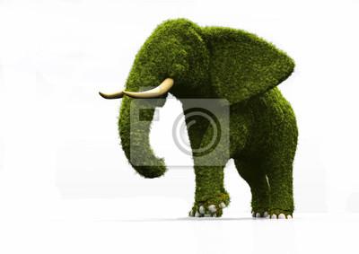 Elefante-hierba.