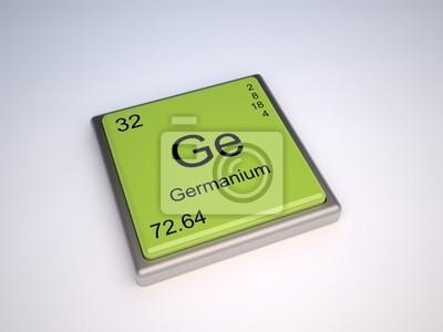 Elemento qumico germanio de la tabla peridica con el smbolo pster elemento qumico germanio de la tabla peridica con el smbolo ge urtaz Gallery