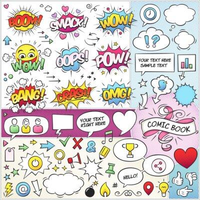 Póster Elementos de Comic Book paquete de vectores