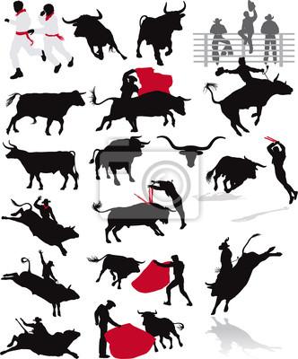 elementos de toros, rodeo y corrida