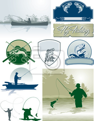 Elementos vectoriales Pesca