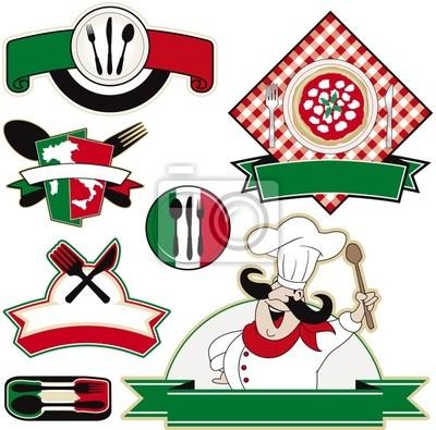 elementos vectoriales restaurante italiano