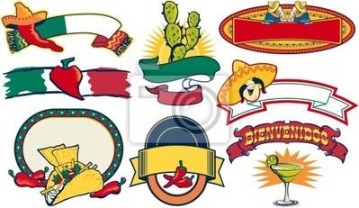 elementos vectoriales restaurante mexicano