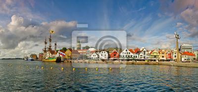 Embarcadero en Stavanger, Noruega.