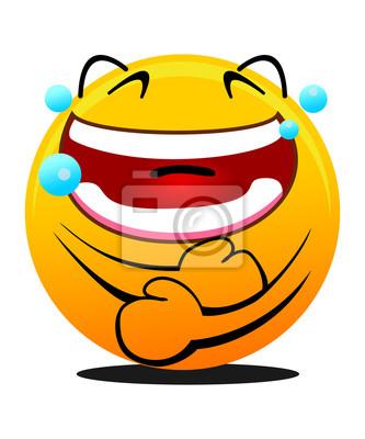 Emoticon Risa Con Lágrimas De Alegría Carteles Para La Pared