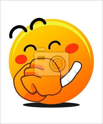 Emoticon Risa Con Sonrisa Y Ojo Cerrado Carteles Para La Pared