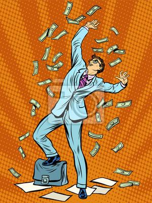 Empresario Finanzas caída del dinero