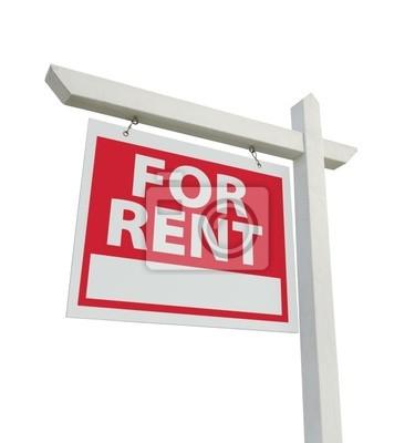 En Renta Inmobiliaria Registrarse Aislada en un fondo blanco.