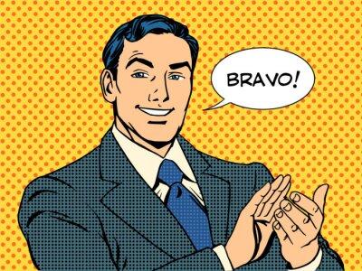 entre aplausos Bravo concepto de éxito