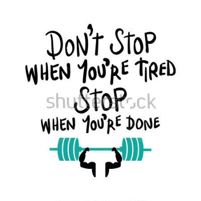 Póster Entrenamiento gimnasio fitness culturismo concepto de motivación / diseño de impresión vectorial
