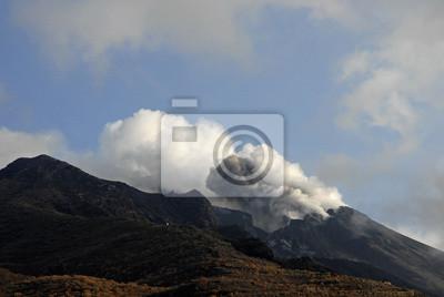 Erupción am Krater