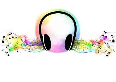 Póster Escuchar música