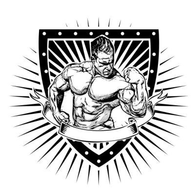 Póster escudo culturismo