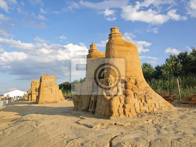 Esculturas III Internacional Gdansk Plener, hechas con arena