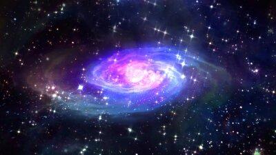 Póster Espacio azul galaxia en el espacio.