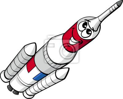 Espacio de dibujos animados de cohetes carteles para la pared ...