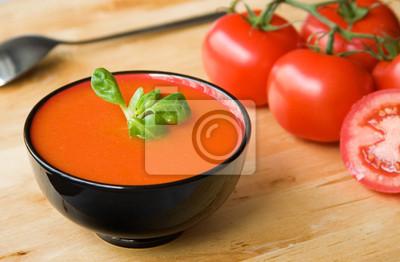 Español sopa fría de gazpacho a base de tomate