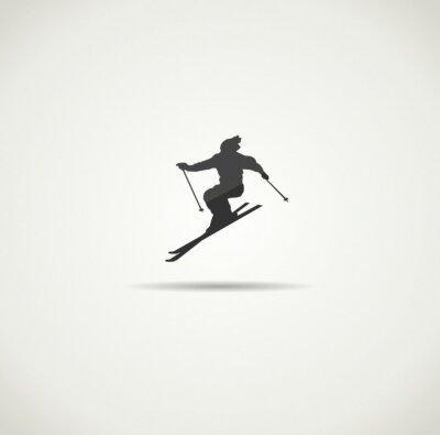 Póster esquiador