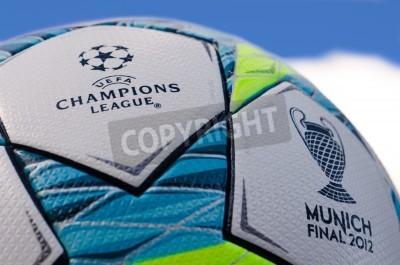 Póster Esta es la bola oficina jugado en el partido final entre el Bayern Múnich y el Chelsea