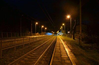 Póster Estación de noche