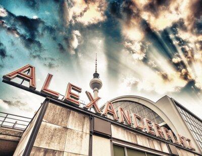 Póster Estación de tren de Alexanderplatz en Berlín - Alemania