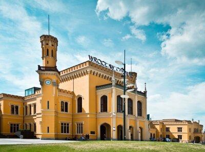 Póster Estación de tren de Wroclaw