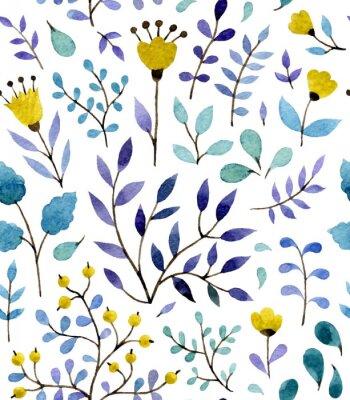Póster estampado de flores