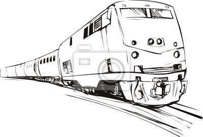 Estilo de dibujo tren a toda velocidad