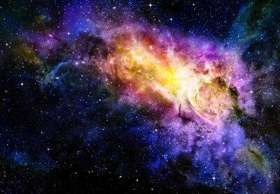 Póster estrellado profundo Nebual el espacio exterior y la galaxia