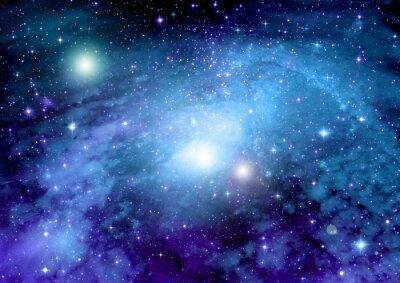 Póster Estrellas, nebulosa de polvo y gas