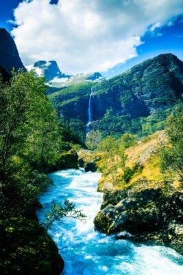 Póster Eternos glaciares y montañas.