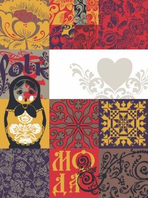 etiqueta patchwork rusia