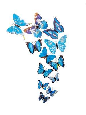 Póster Etiquetas engomadas de la pared de las mariposas