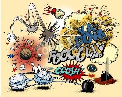 Póster Explosiones del cómic