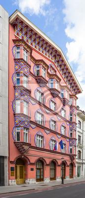 Fachada del Banco Cooperativo El Edificio, Ljubljana.