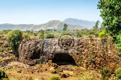 Falls cauce reseco del Nilo Azul