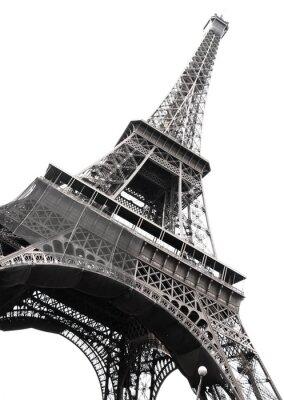 Famosa Torre Eiffel de París aislados en blanco