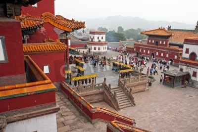 Póster famous Puning temple s in Chengde, china. Chengde is famous for its tibetan-style temples.