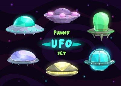 Póster Fantástico juego ufo Cartoon
