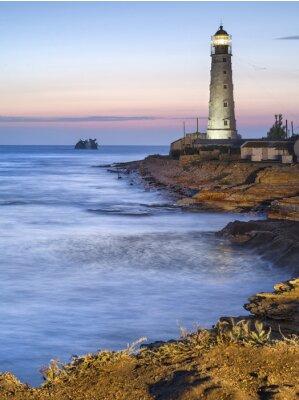 Póster Faro en el crepúsculo
