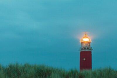 Póster Faro en la isla holandesa de Texel