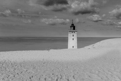 Póster Faro entre las dunas